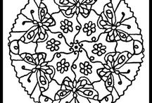 mandalas / coloring pages