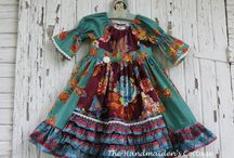 Peasant Dress by Handmaiden's Cottage / Creative Inspiration for the Peasant Girl's Dress PDF Sewing Pattern by Handmaiden's Cottage