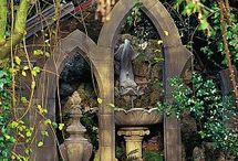In the Garden.... / Garden decor~statuary, fountains, urns, benches, decorative elements  / by Cassie Koegl