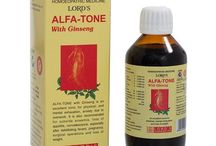 ALFA-TONE WITH GINSENG / ALFA-TONE with Ginseng tonic is recommended for nervousness, anxiety, neurasthenia, general debility, sleeplessness, insomnia and loss of appetite. COMPOSITION: Alfalfa Q, Avena Sativa Q, China Officinallis Q, Ginseng Q, Hydrastis Can Q, Calcarea Phosphorica 6x, Ferrum Aceticum 6x, Kalium Arsenicosum 4x, Kalium Phosphoricum 3x, Syrup Base q.s., Alcohol Content 10% v/v. Dosage: Adults- One Tablespoon three times a day or as directed by the physician. SIZE: 180 ML