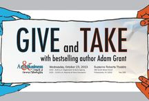 Give and Take with Adam Grant / The Arts & Business Council of Greater Philadelphia is bringing New York Times bestselling author, and youngest tenured professor at Wharton, Adam Grant, to the Suzanne Roberts Theater on October 23rd at 8am. Come out for Grant's keynote speech and a panel discussion to learn more about reciprocity in the workplace. This event is part of the Arts & Business Council's Thought Leadership series.  / by Arts + Business Council of Greater Philadelphia