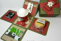 Papercrafts ~ Box Card Ideas / Box card examples and inspiration