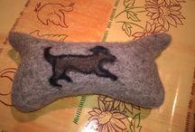 oggetti in feltro di lana di pecora