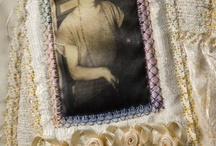 mini memory art quilts / use heirloom crochet pieces in a quilt