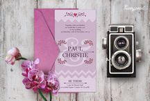 wed_invi_3 / Create your own custom wedding invitation with this elegant template featuring. All you have to do, is change the existing text in Greek or in English with your own details!