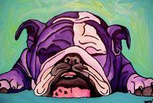 Bulldog painting