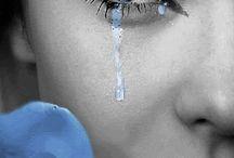 women # Cry#rain#lonely