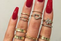 Coffin Nails & Rings / Love, love, love them! Must have them all!