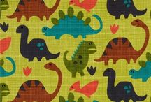 Rawr Dinosaurs / Get Prehistoric with these cotton fabric prints and crafting ideas.