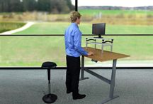 Standing Desk Back Pain Prevention Health / Losing weight while working.  Maintaining Core Strength. Active Stool.