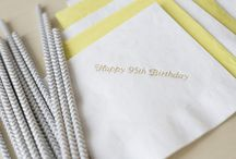 Merrymade // Napkins / Merrymaker Fine Paper | Napkins | Merrymade and foil-stamped at Merrymaker in Richmond, VA.