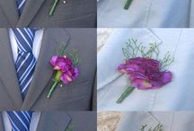 Wedding Guest Buttonholes / A selection of wedding day guest buttonholes for either male or female wedding guest, handmade in silk and artificial flowers from award winning wedding florist Sarah's Flowers