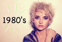 80's makeup + hair