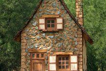 Huizen / Inspiratie voor sprookjesachtig mooie poppenhuizen.