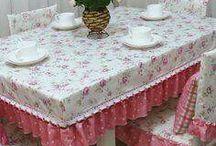 asztal, szék terítők