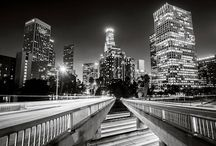 Los Angeles Black and White Night  Photography