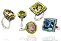 Alice Cicolini Silver Tile Collection / The Silver Tile collection of cocktail rings is inspired by Uzbek temple tops, with their brightly coloured tiles. The collection features bespoke pieces created around stunning and unique stones, sourced by Alice during trips to Jaipur, and a collection of made-to-measure rings, with set stone sizes, but where clients can create their own combination of enamels.
