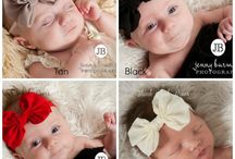 sec-BOW BAND - big bows / pin to little girl headband BIG BOWS