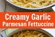 creamy garlic fetucini