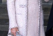 Shift dress and coat combo tweed