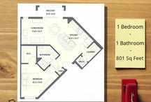Unit Floor Plans / We offer 7 Unit Floor Plans of 1, 2, and 3 Bedroom Apartments.  Scroll through this album and find your perfect fit!