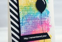Cardmaking - balloons / Cards with party balloons of different shape