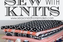 SEWING WITH KNITS - INTRO TO DESIGN AND TUTORIALS AND JUST PLAIN GOOD STUFF / Knita are making a big comeback and are easy to fit, sew for any age, decorations, stuffed animals just for a few.