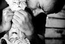 Cats and their humans of fame