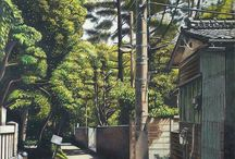 Colored pencil painting