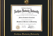 Northern Kentucky University - NKU - Diploma Frames & Graduation Gifts! / Official NKU Diploma frames. Exquisitely crafted to exacting specifications for the NKU diploma. Custom framed using hardwood mouldings and all archival materials, including UV glass to prevent fading from sunlight AND indoor incandescent lighting! Each frame exceeds Library of Congress standards for document preservation and includes a 100% lifetime guarantee, ensuring that a hard-earned achievement will be honored and protected for generations. Makes a thoughtful and unique graduation gift!