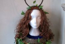 Larp & Pagan festival Gatherings. Accessories. / Handmade Elen Of The Ways Antlered Goddess Headdress. Larp / Pagan Gatherings, Sabbat Festivals, Handfasting. by positivelypagan.com