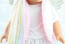 Unicorn doll wig