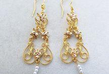 Etruscan earrings, filigree earrings, silver filigree earrings