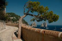 Capri / Vista dei Faraglioni da Via Krupp / by Villa Brunella