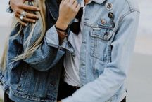 Couple on denim