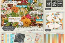 OUTDOOR / ADVENTURE SCRAPBOOK KITS / Outdoor / Adventure themed digital Scrapbook Kits