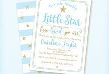 "Twinkle Twinkle Little Star Baby Shower in Blue & Gold / Blue and gold ""Twinkle Twinkle Little Star"" baby boy shower theme. DIY, planning, decor, fun food and more!"