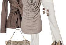 Outfit beige/vita byxor