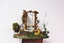 """mushrooms and twigs / tomte, nisse, gnomes, """"habitats"""" and very odd things.   made locally in Hamilton, ON with re-purposed, foraged, & recycled materials."""