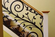 art-metal stairs and railing