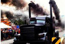 Trucks Black smoke