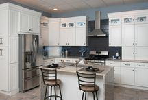 Kitchen Remodel / Inspiration for kitchen remodel. Specifically, white and gray fixtures and accessories.