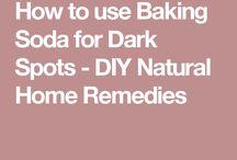 Baking sofa for dark spots
