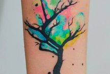 Water colour tattoos