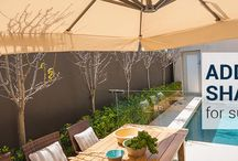 Outdoor Umbrellas / Umbrellas bring much needed shade and UV protection to your outdoor area while making a stunning style statement.
