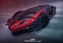 QVONNE / Futuristic hyper car vision project
