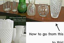 vázy, flašky dekorace