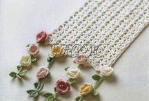 idéias de cor de flores de crochê.