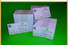 PX Drucksachen / Von Printex Werbung erstellte Visitenkarten, Flyer.usw.