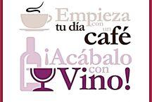 vinos y café